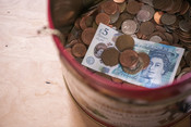 Tin of money