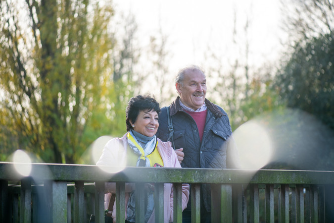 Older couple outdoors