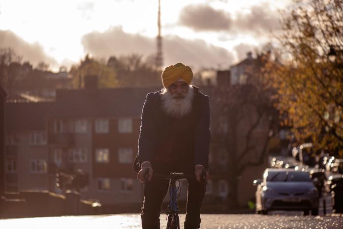 Older Sikh man
