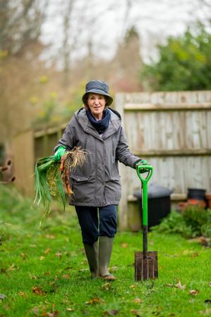 Older women gardening