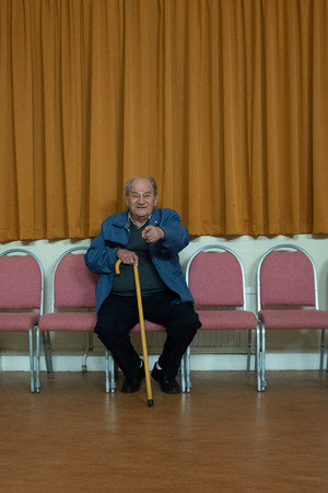 Man sat on chair