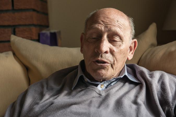 Man portrait on sofa