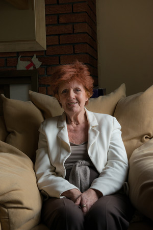 Woman Portrait on Sofa