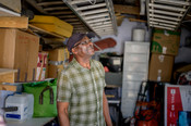 Sorting through shed