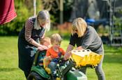Grandchildren in Garden